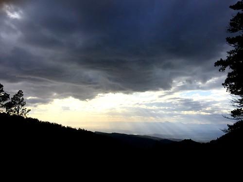 sunset clouds vista mountainview sunbeam cloudcroft sunlightthroughclouds