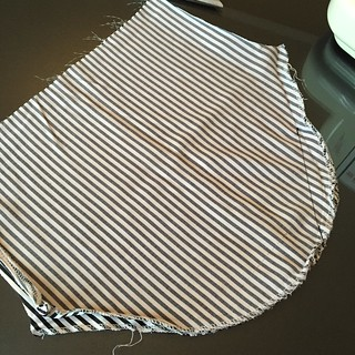 Slinky Striped Top - In Progress