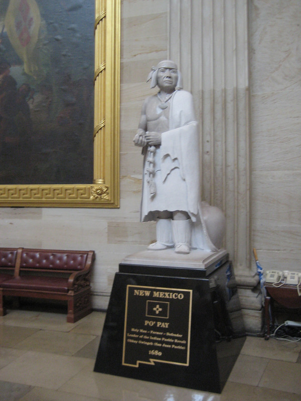 Statue of Popé, leader of the Pueblo Revolt in 1680 in the US Capitol Building