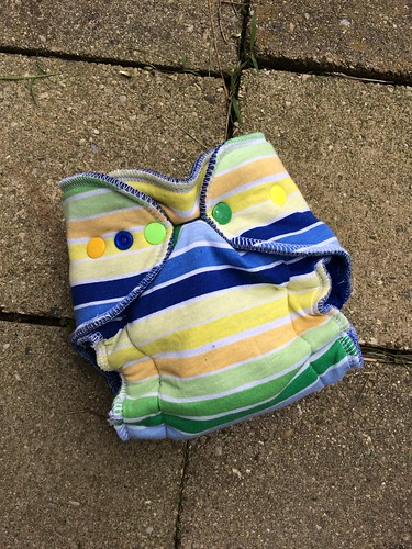 Bumstoppers Newborn Hybrid Windpro Fitted Summer Stripe