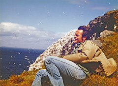 Noble S. Proctor at the Bass Rock gannet colony, Scotland, summer 1974