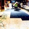 Laying a new floor at the Jambalaya...