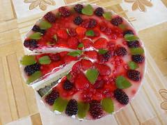 Gyümölcstorta eperrel és szederrel 2