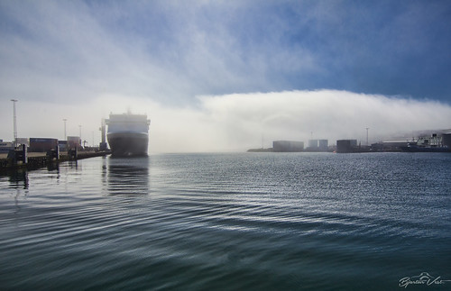 ocean sea mist water misty fog pier ship harbour