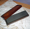 Vintage 8-inch Knife Hone in Wooden Box