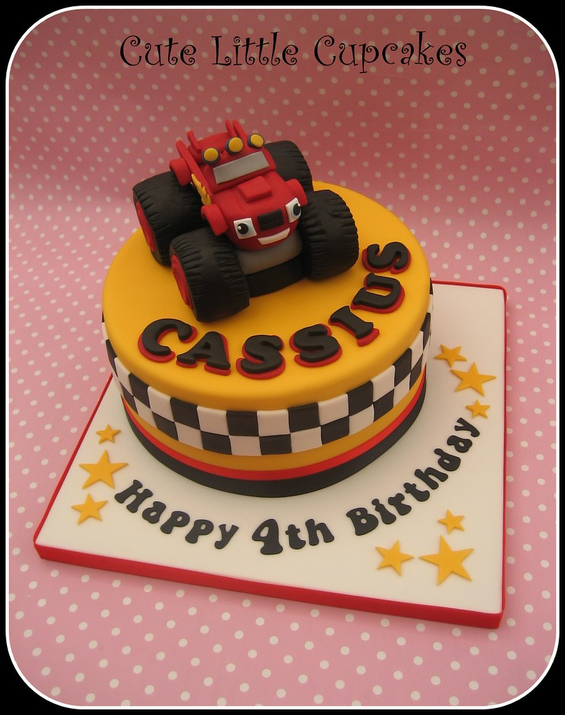 Blaze And The Monster Machines Cake Topper