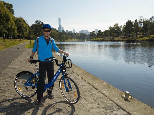 Sykkeltur i Melbourne