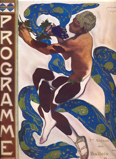 Programme cover for Vaslav Nijinsky's L'Aprés-midi d'un faune, designed by Léon Bakst