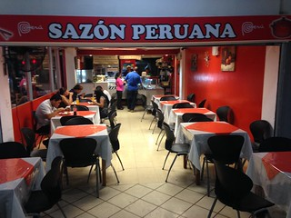 The tasty Peruvian place next to the post office, Panama City.