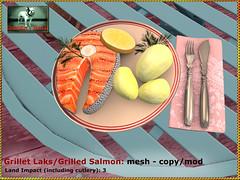 Bliensen - Grillet Laks/Grilled Salmon