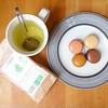Tea time often looks like this. #newmamatea #macaronslover