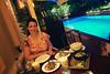 Cambodia 2015, Cambodian Eats, poolside dining in Phnom Penh
