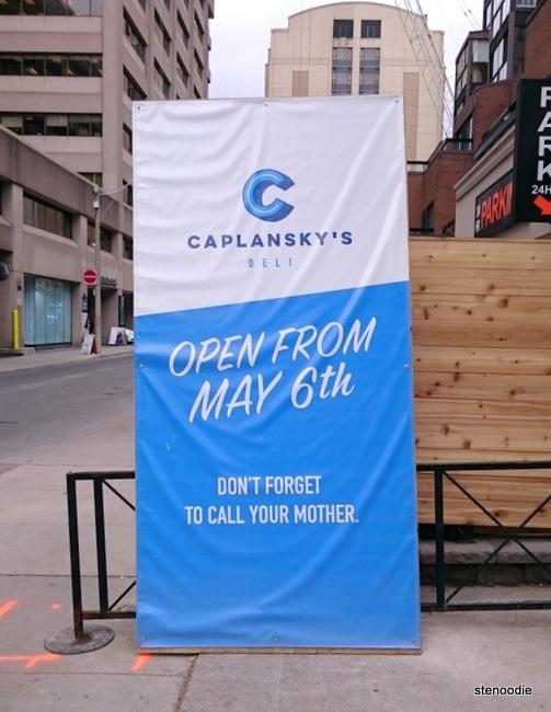 Caplansky's Deli opening in Yorkville