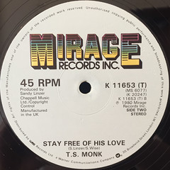 T.S. MONK:BON BON VIE(LABEL SIDE-B)