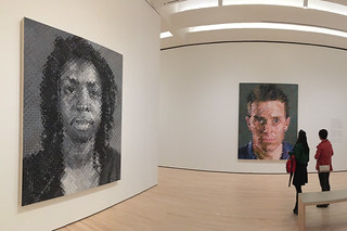 SF MoMA - Opening Chuck Close Portraits