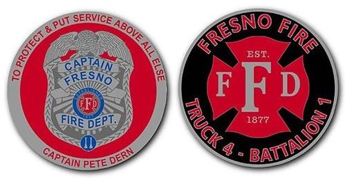 Pete Dern fundraising coin