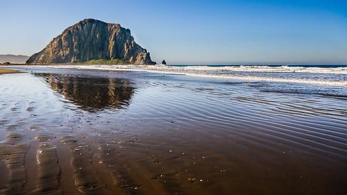 ocean california beach canon landscape bay waves angle pacific wide sigma wideangle roadtrip ripples morrobay morro morrorock 30d 2013