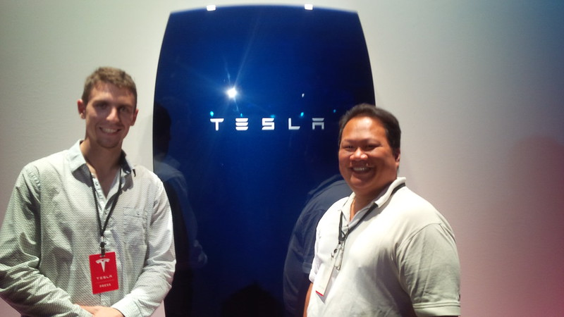 Your correspondents for @Teslarati @danielsparks on left @dennis_p on right #TeslaLive