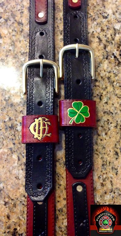 CFD and Shamrock on radio strap belt loops