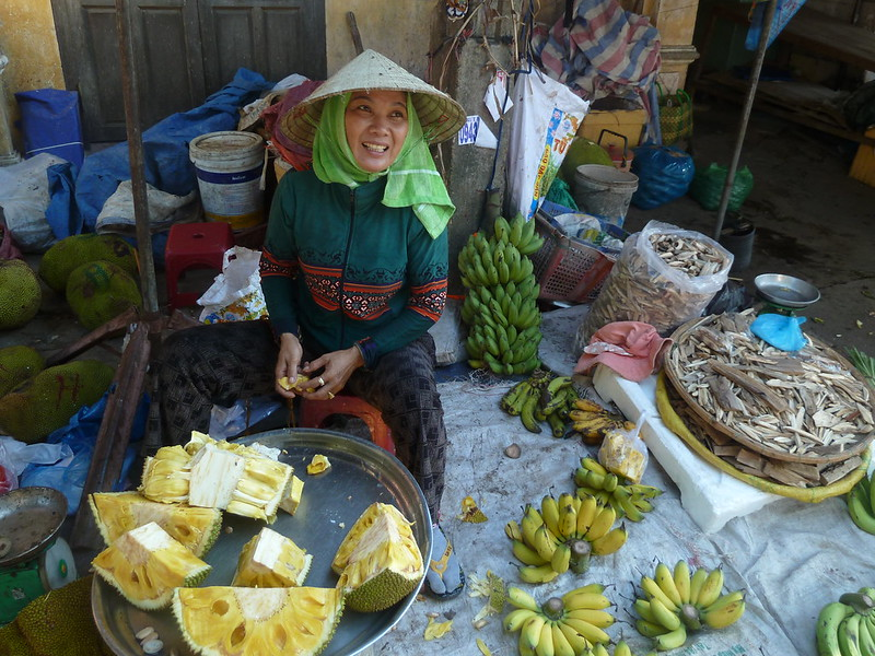 Jack fruit seller