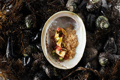 Abalone-with-bbq-flavours-finger-lime-and-powdered…