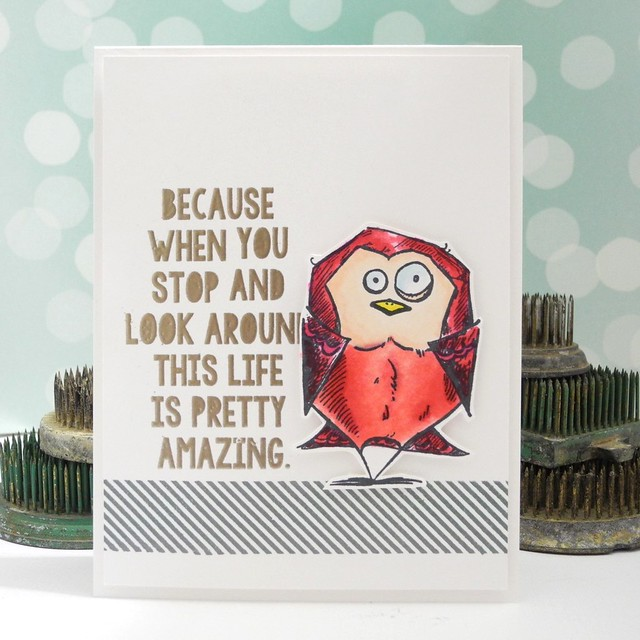 Life is Pretty Amazing by Jennifer Ingle #timholtz #birds #timbirds #spectrumnoir #stamping #diy #cardmaking