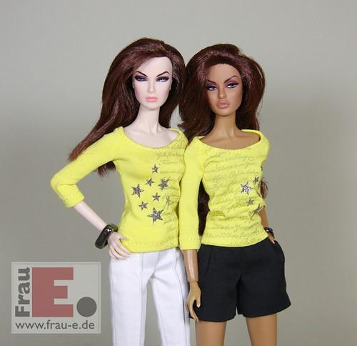 Fashion Doll T-shirt with print