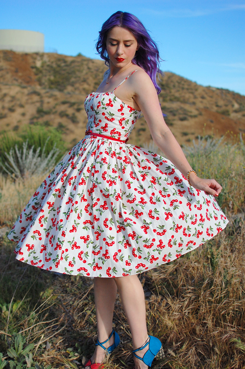 Bernie Dexter Paris dress in Cherry print