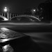 Maximilian bridge and high water, film noir style. ( #FlickrFriday  #LightsCameraAction )