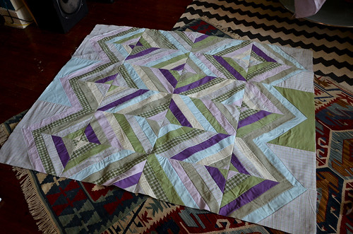 Diamond String Quilt Top Finished