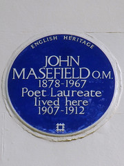Photo of John Masefield blue plaque
