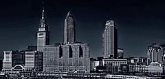 The skyline of Cleveland, Ohio, U.S.A.