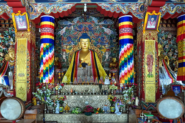 India - Bihar - Bodhgaya - Bhutanese Monastery - 155