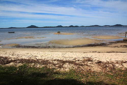 View Across Port Stephens from Wombo St, North Pindimar Tea Gardens 17.4.2015