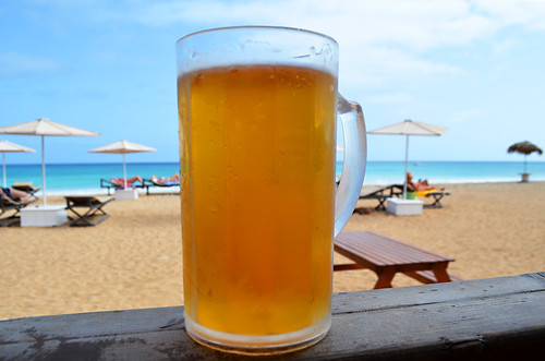 Beer in Beach Bar, Santa Maria, Sal, Cape Verde