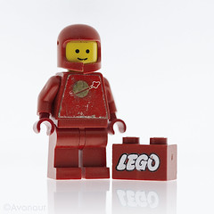 Red Lego Spaceman