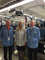 Rep. Mary Dye tours Schweitzer Engineering Laboratorie's corporate headquarters. SEL is based in Pullman, WA.