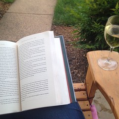 Nothing matches the joy of a cool summer evening, a good book, and a glass of wine.