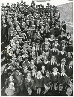 Children at the Wainuiomata Intermediate School, Wellington Province