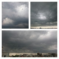 The morning that epitomized the rest of the day.   #rain #clouds #Dhaka #nofilter