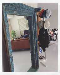 So in love with our new Nomad India blue fitted door mirror. Sourced from Northern India, lovingly restored by local carpenters in Rajasthan, India. #home #adulting #slowdown #sunday