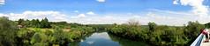 River Kupa from the bridge in Pokupsko