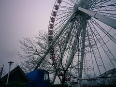 Empty ferris wheel, Navy Pier