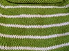 pullover in green stripes because spring