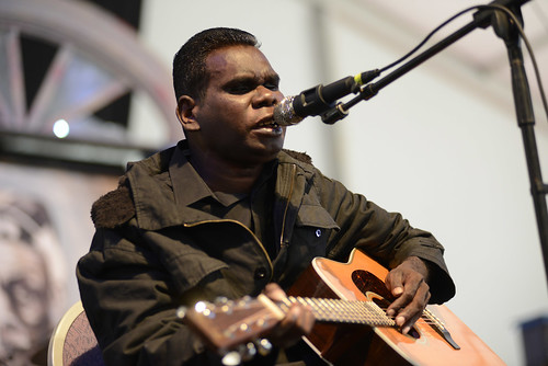 Gurrumul of Australia. Photo by Leon Morris.