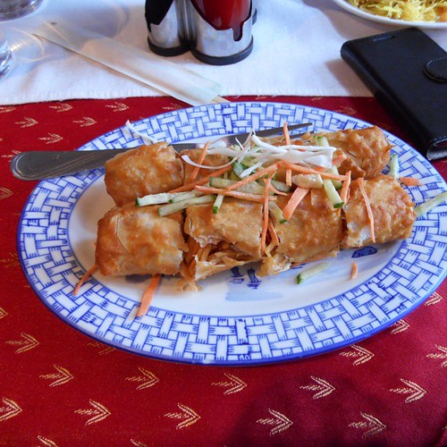 Tasty #springrolls just a memory now #foodporn #asianvillage in #pärnu #estonia just 3,50€ I'll visit again one day