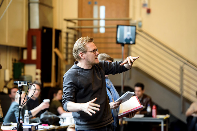 Kasper Holten in rehearsals for Król Roger ©2015 ROH. Photograph by Bill Cooper