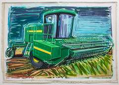 "Los Angeles artist Karen Carson unveils her large-scale paintings depicting the gargantuan machines that are familiar sights in rural America and revered icons of agricultural in the exhibit ""Movers and Shapers: Combines, Tractors, and Swathers,"" at the OSU Museum of Art from June 1 to August 29. An opening reception with the artist and curator, including a question and answer session, is set for June 1, from 5 – 7 p.m."