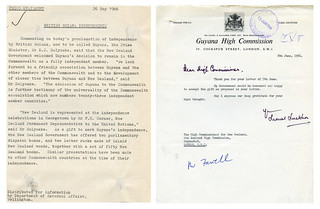 Correspondence regarding Guyanese Independence, May 1966