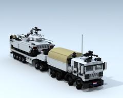Utau-1 A1 MBT (On transport behind the Bull All-Terrain Heavy Tractor)